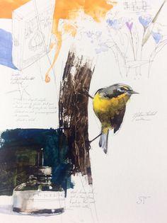 9x12 sketchbook page.