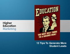 13 tips to generate more student leads