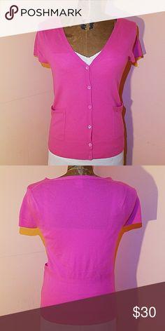 J. Crew Cashmere cardigan Pink short sleeve cardigan GUC 100% cashmere J. Crew Sweaters Cardigans