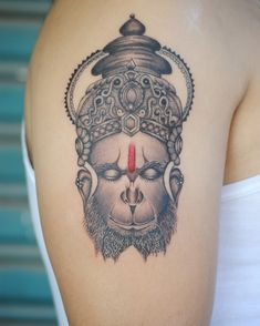Hanuman portrait tattoo Shiva Tattoo, Hanuman Tattoo, Ma Tattoo, Beard Tattoo, Get A Tattoo, Religion Tattoos, Gott Tattoos, Mahadev Tattoo, Tatoo