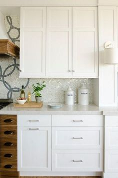 Bancada Silestone Branco Maple na cozinha