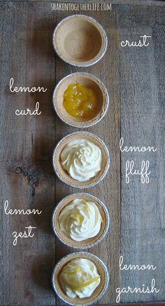 shaken together: {taste this} mini luscious lemon pies ~ a no-bake dessert