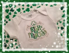 Embroidered Baby Green St. Patrick's Day Onesie by SewRidiculous, $18.00