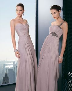 Dear brides, you really have no excuse anymore- the reign of ugly bridesmaid dresses is definitely over. The 2013 cocktail collection by Two by Rosa Clara is one place to start. The perfect balance of modern and traditional, these dresses are gorgeous for your best gals. Enjoy! Love!