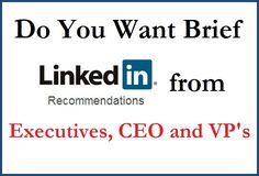 It really doesn't matter which industry your are in Linkedin Recommendation plays a very important role in attracting new customers and Build a strong trust in Online community. Get your Recommendation HEREhttp://www.fiverr.com/s/50xflj