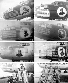 B-25s from the 487th B.S. with classic Bill Mauldin noseart provided by 487th tail-gunner Hank Del Percio.