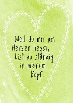 Weil du mir am Herzen liegst Lettering Card Quote Art Word Art Statements Z Happy Quotes, Best Quotes, Love Quotes, Funny Quotes, Happiness Quotes, Just Be You, Love You, German Quotes, Statements