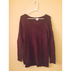 marled burgundy sweater Lightweight and perfect to layer with. Price is firm Urban Outfitters Sweaters Crew & Scoop Necks