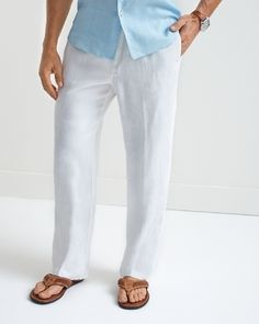 Tommy Bahama - Linen on the Beach Easy Fit Linen Pants