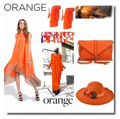 """""""orange crush"""" by osiris-rojas ❤ liked on Polyvore featuring beauty, Milly and Christian Louboutin"""