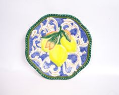 Fitz and Floyd Lemon Plate Canape Plate Majolica Style Fruit Motif https://www.etsy.com/listing/246998569/vintage-fitz-and-floyd-lemon-plate?ref=shop_home_active_2&utm_content=bufferaafa1&utm_medium=social&utm_source=pinterest.com&utm_campaign=buffer #vougeteam #etsygifts