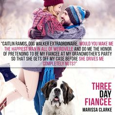 Three Day Fiancee by Marissa Clarke. A romantic comedy.