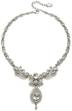 Ben-Amun Royal Crystal Drop Necklace. At Charm and Chain.