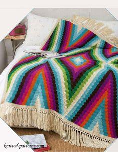 Bohemian Blanket Crochet Pattern Free