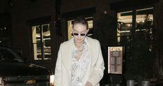Gigi Hadid Takes Party Pajamas Out on the Town Gigi Hadid Style, Pajama Party, Celebs, Celebrities, Party Fashion, Celebrity Style, Pajamas, Lady, Coat
