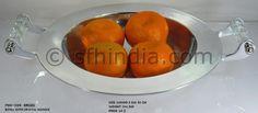 Crystal Handle Aluminium Bowl