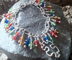 Autism Awareness inspired Bracelet - The Supermums Craft Fair Autism Jewelry, Autism Awareness Bracelet, Autism Crafts, Asd, Craft Fairs, Jewelry Making, Crafty, Jewellery, Inspired