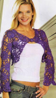 Irish crochet &: CROCHET BOLERO ... БОЛЕРО КРЮЧКОМ