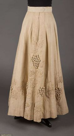 TRAPUNTO LINEN WALKING SUIT, c. 1905