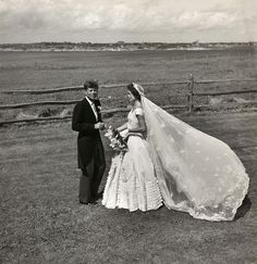 John And Jacqueline Kennedy At Wedding 1953 Toni Frissell