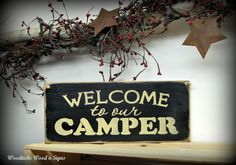 Wooden Camper  Sign / Welcome to our Camper / RV Camp decor on Etsy, $15.95