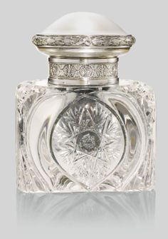 Beautiful!  A Fabergé silver-mounted cut glass inkwell, Moscow, 1908-1917 - Sotheby's
