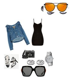 """""""girls night out!!"""" by kmdudley on Polyvore featuring Balenciaga, Alice + Olivia, Prada, Gucci and Michael Kors"""