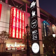 Logos galore on #MicrosoftTheater #downtownLA #graphicdesign 9.2015