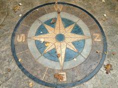 concrete compass stamp - Google Search