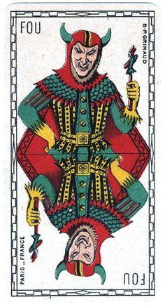 Vintage Playing card - Fou
