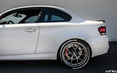 BMW tuned by European Auto Source. This went for a makeover to enhance its clean and sporty lines. 135i Coupe, Bmw Performance, Volkswagen Models, Bmw 1 Series, Alpine White, Classy Cars, Bmw Cars, Future Car, Exotic Cars