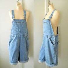 Women Overalls Denim Overall Shorts Women by TheVilleVintage, $46.99