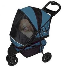 Special Edition Pet Stroller. Enjoy a leisurely walk through the park, a walk around the block, or maybe even shopping at the mall. The Special Edition Stroller has a classic Euro-Canopy, waterproof interior pad, interior tether, large easy-access storage basket, parent tray, front locking swivel wheels, rear shock absorbers, and brakes. The Pet Gear Special Edition Pet Stroller rolls smoothly on 4 wheels and the front wheels lock straight for stability on bumpy sidewalks…