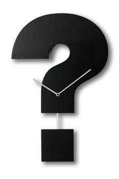 Question Time Wanduhr von Progetti #wanduhr #questiontime #progetti #linenda http://www.linenda.de/xtc/de/Uhren/Progetti-Question-Time-Wanduhr.html