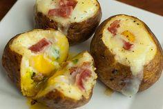Egg stuffed potatoes