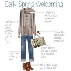 walking in spring weather with this outfit would be so amazing