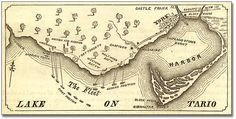 Lake Ontario pictured in the Pictorial Field-Book of the War of Archives of Ontario Library. Canadian History, Us History, American History, Historical Artifacts, Historical Maps, Toronto Subway, North America Map, Shock And Awe, War Of 1812