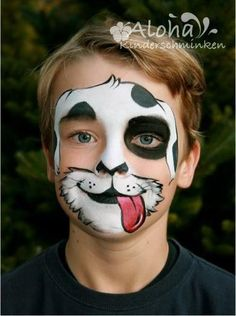 Face painting motifs for your kids party! Face painting motifs for your kids party! Face Painting Tutorials, Face Painting Designs, Paint Designs, Animal Face Paintings, Animal Faces, Dog Face Paints, Face Painting For Boys, Christmas Face Painting, Kids Makeup
