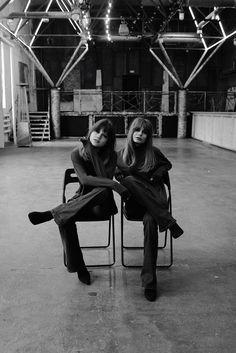Twins. Elegance, style, parisienne. Inspired by free people: Jane Birkin, Sophie Morseau, Brigitte Bordeaux. PH #by_ohsmirnova