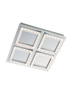 TOKEN Redo - svietidlo LED stropné - 300mm - chróm-akryl