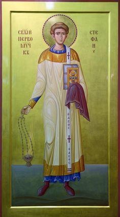 St Stephen the Protomartyr and Deacon / Mironenko. Byzantine Icons, Byzantine Art, Religious Icons, Religious Art, Santo Estevão, Saint Stephen, Soul Art, Orthodox Icons, Patron Saints