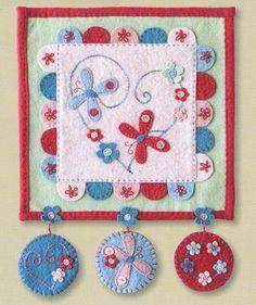 !Wool Felt/Penny Rug Patterns Patterns - The Cinnamon Patch - Fly Away Butterflies