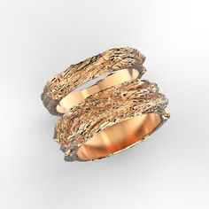 print model Wood textured wedding bands, formats STL, band bands gold, ready for animation and other projects Wood Texture, Gold Bands, Wood Print, Wedding Bands, 3d Printing, Jewels, Rings, Model, Printed