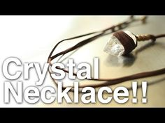 DIY~Make A Stunning Crystal Heart Necklace For Less Than $3! Seriously! - YouTube