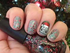 "My ""I want a hippopotamus for Christmas"" nails"