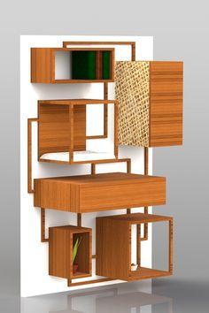 Multifunctional cat furniture by Spase Janevski, via Behance