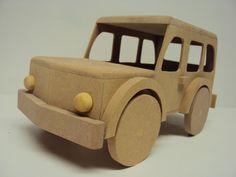Camionete range rover fabricada em madeira mdf para lembrancinha de aniversario,enfeite de mesa e decoração quarto de bebe. <br> <br>Peça entregue sem pintura. <br> <br>Tamanho: Comprimento 27 cm, largura 13 cm