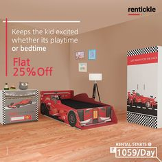Magical furniture packages that give your child's room their own look and feel. Let your kid's imagination race as fast as possible! Book Now Thinking of Renting. Think of Rentickle! . . #kidsbedroomdecor #homedecor #childrensroom #childrensbedroom #bedroom #rentickle #kidsroomfurniture #rentfurniture #homefurniture #kidsbed #kidsbedroom #superherokid #kidswardrobe #bedforkids #racingcarbed #carbed #formulaonebed #magicalfurniture #kidsfurniture