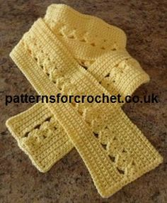 Ladies Scarf - free pattern from Patterns For Crochet