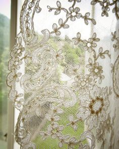 When I found these old lace doilies in a thrift store, I wondered what I'd do with them… nothing apparently, they are just beaut...